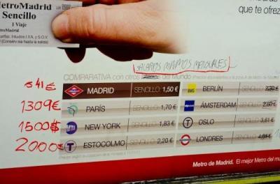 Polémica por un cartel del Metro de Madrid